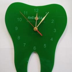 Часовник зъбче плексиглас зелен